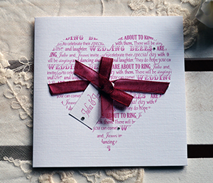 Silver Heart Wedding Invitations And Stationery Handmade Designs To