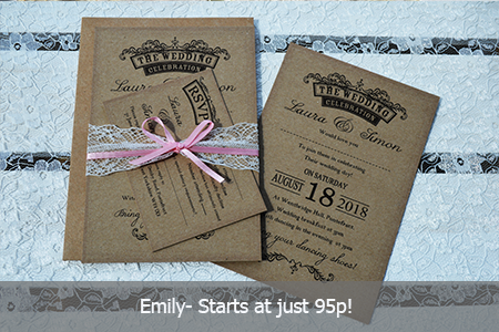 invitations for less than 2 for weddings on a budget value