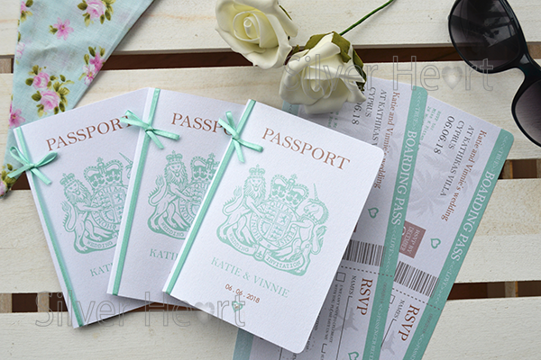 Passport Wedding Invitations For Weddings Abroad Style