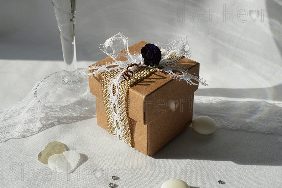 Kraft Box Wedding Favour Gift Box Made From Recycled Kraft Vintage